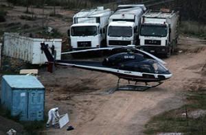Το ελικόπτερο στο σημείο διαφυγής